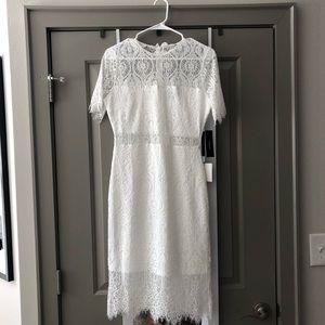 Lulu's white midi lace dress